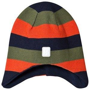 Reima Huurre Beanie Khaki Green Stripes 50 (3-4 y)